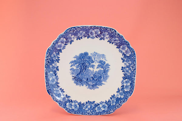 Blue & White Serving Dish, English Circa 1970
