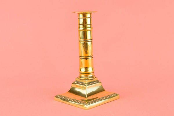 Antique Brass Candlesticks, English 18th Century