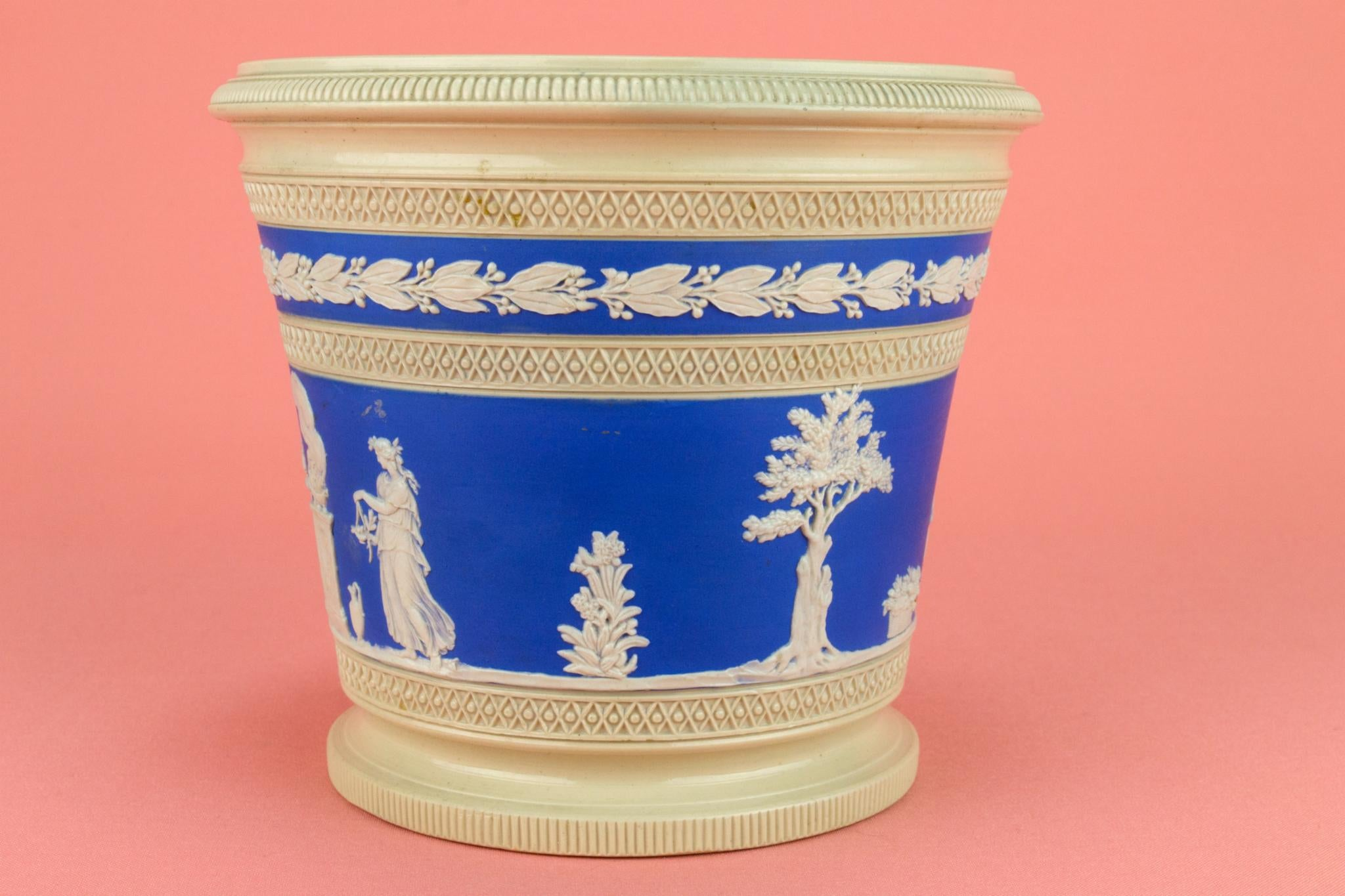 Blue and White Planter by Copeland, English Mid 19th Century