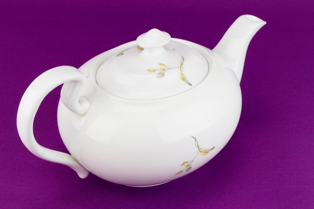 Bone China Teapot Floral Decor, English 1970s