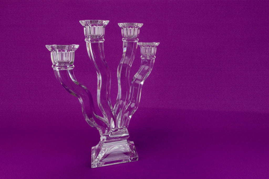 Crystal Glass Candelabra by Nachtmann