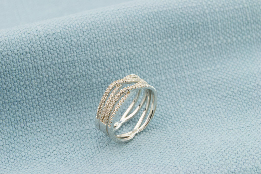Sterling Silver Ring with Open Shank