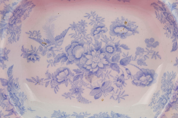 Small Blue and White Serving Dish, English 1880s