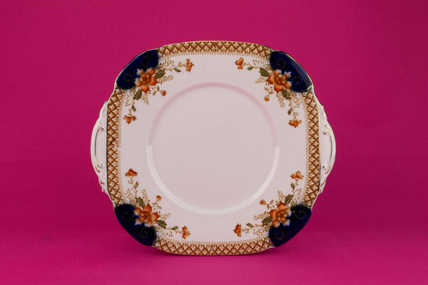 Cake Plate in Bone China, English 1940s