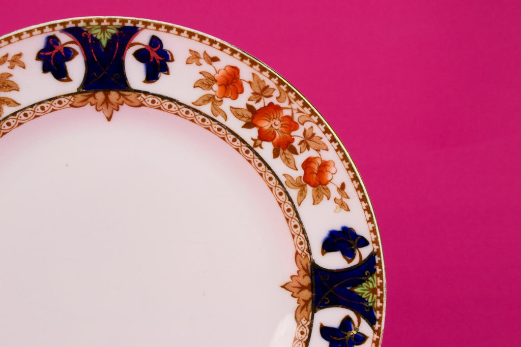 4 Bone China Small Plates, English 1930s