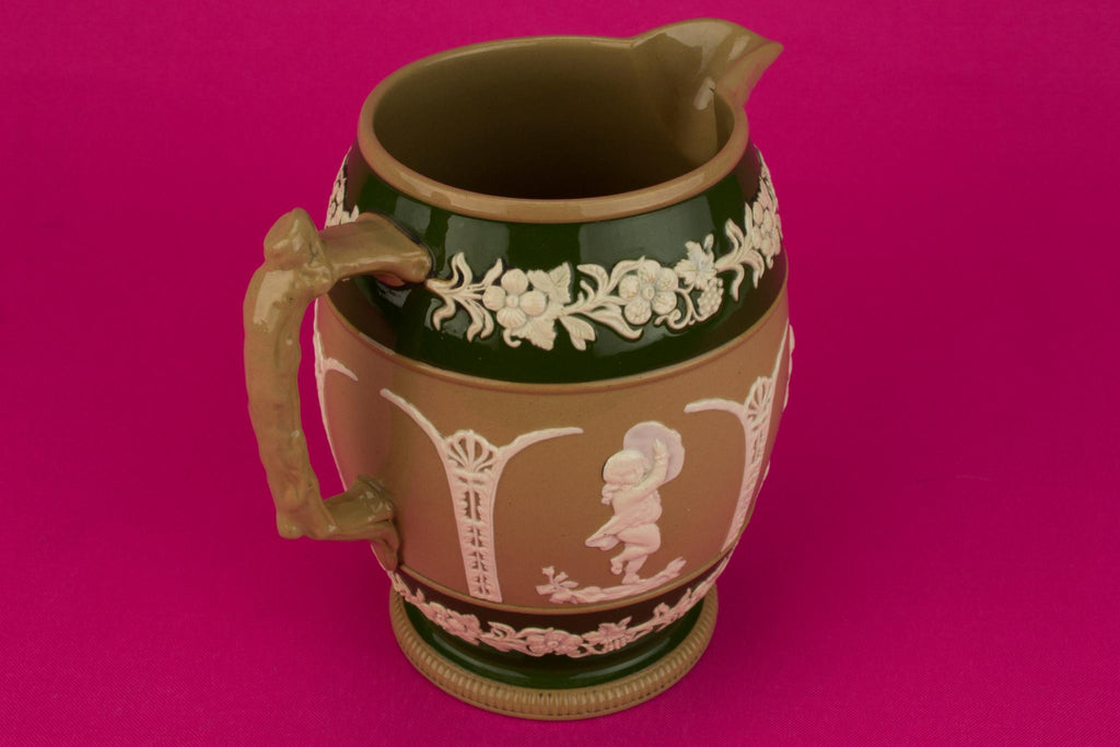 Tactile Ceramic Jug by Copeland, English 1890s