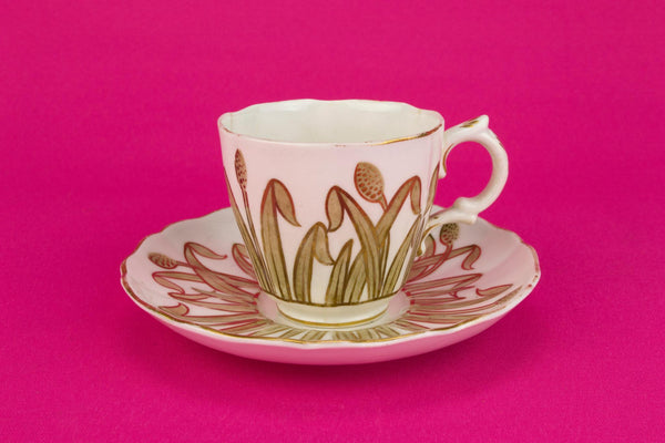 Coffee Cup & Saucer, English Circa 1880