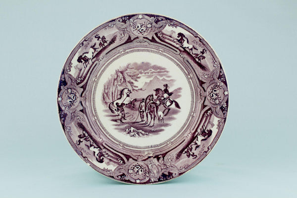 Peruvian Horse Hunt Serving Dish, English 1860s