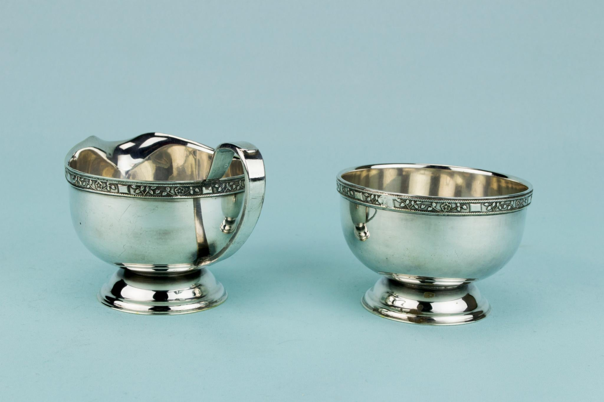 Tea and Coffee Set Silver Plated, English 1950s