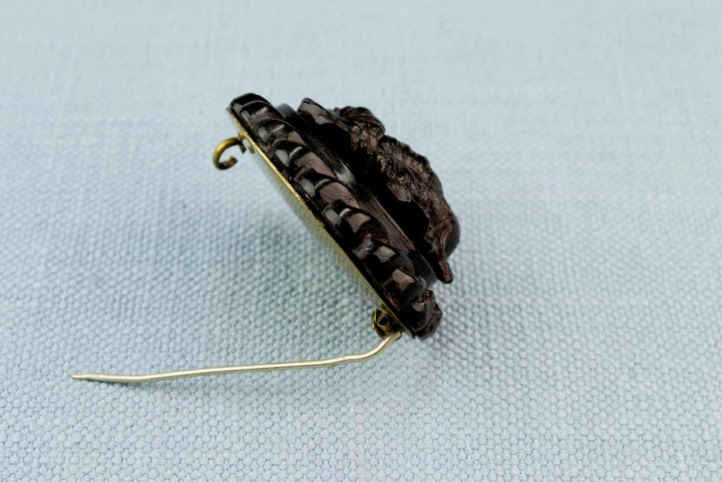 Pressed Horn Brooch, English 1860s