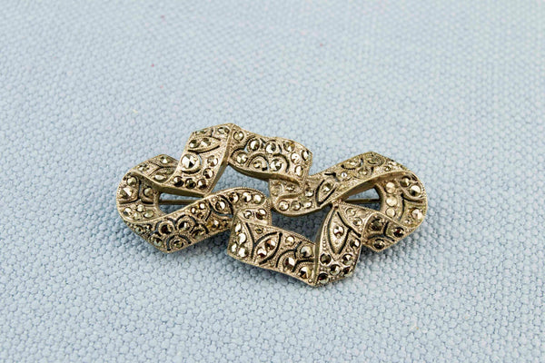 Marcasite Brooch, English Art Deco 1920s
