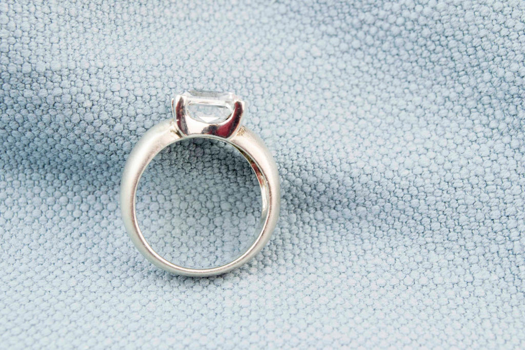 Rock Crystal Ring in Sterling Silver