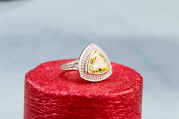 Designer Ring Citrine and Sterling Silver