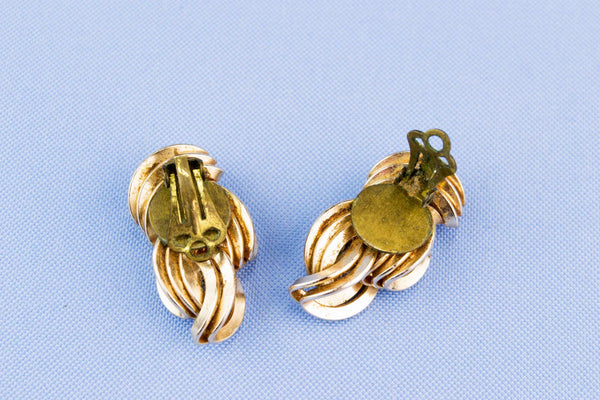Art Deco Earrings, English 1940s