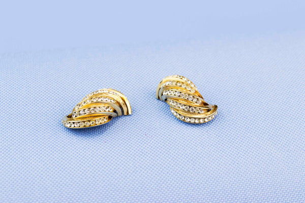 CZ Gold Coloured Earrings