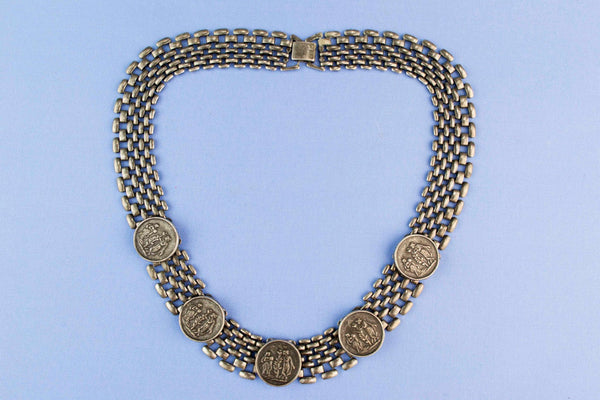 Necklace Silver Plated Art Deco, English 1930s