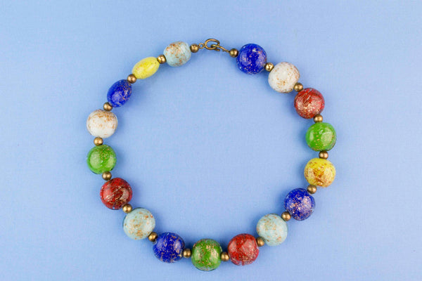Venetian Glass Necklace Circa 1950