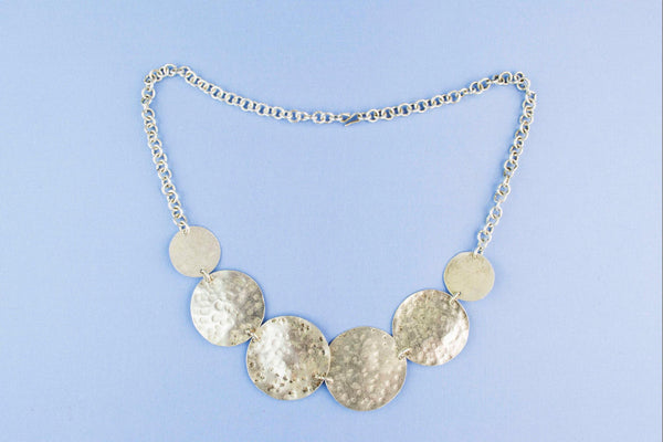 Silver Coloured Panel Necklace