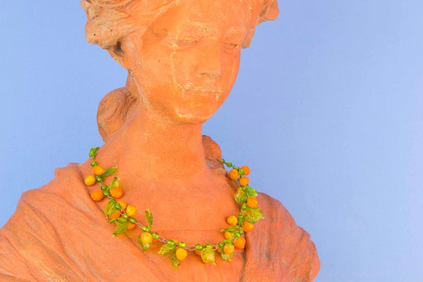 Tutti Frutti Glass Necklace, Italian Mid 20th Century