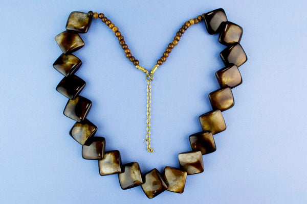 Large Polished Horn Necklace