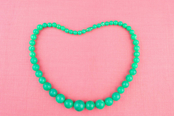 Green Necklace in Perspex, French circa 1950