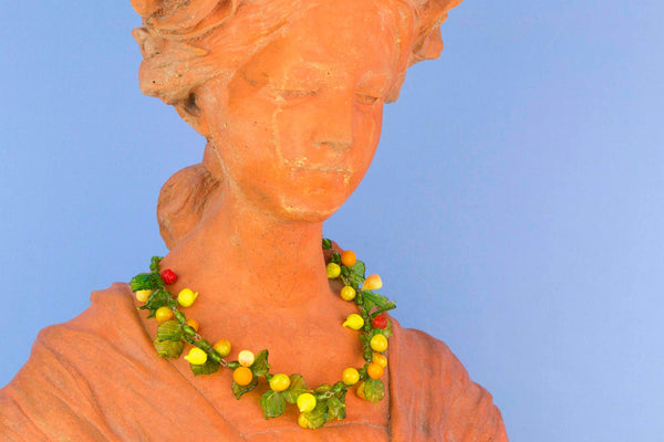 Tutti Frutti Glass Necklace, Venetian Circa 1950