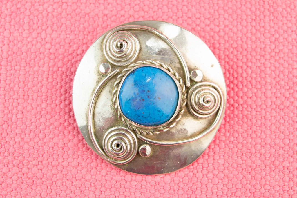 Arts & Crafts Silver Brooch, English Early 1900s