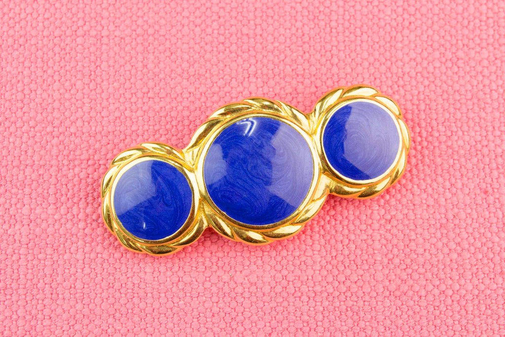 Gold and Blue Brooch 1960s