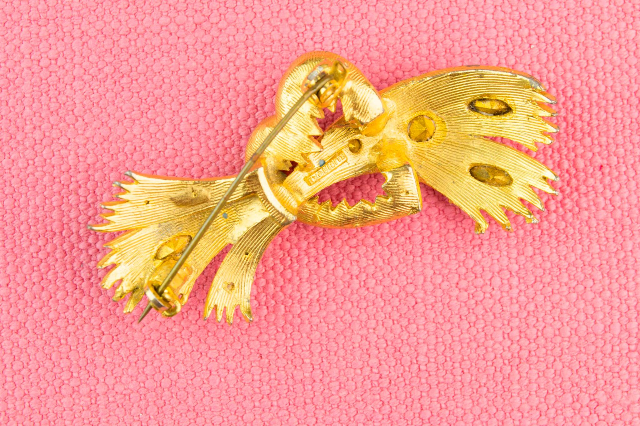 Gold Brooch by Exquisite, English 1950s