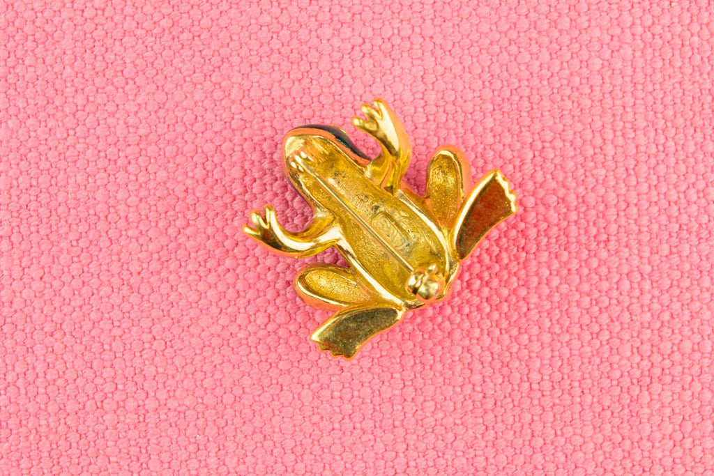 Frog Brooch by Attwood & Sawyer, English 1970s