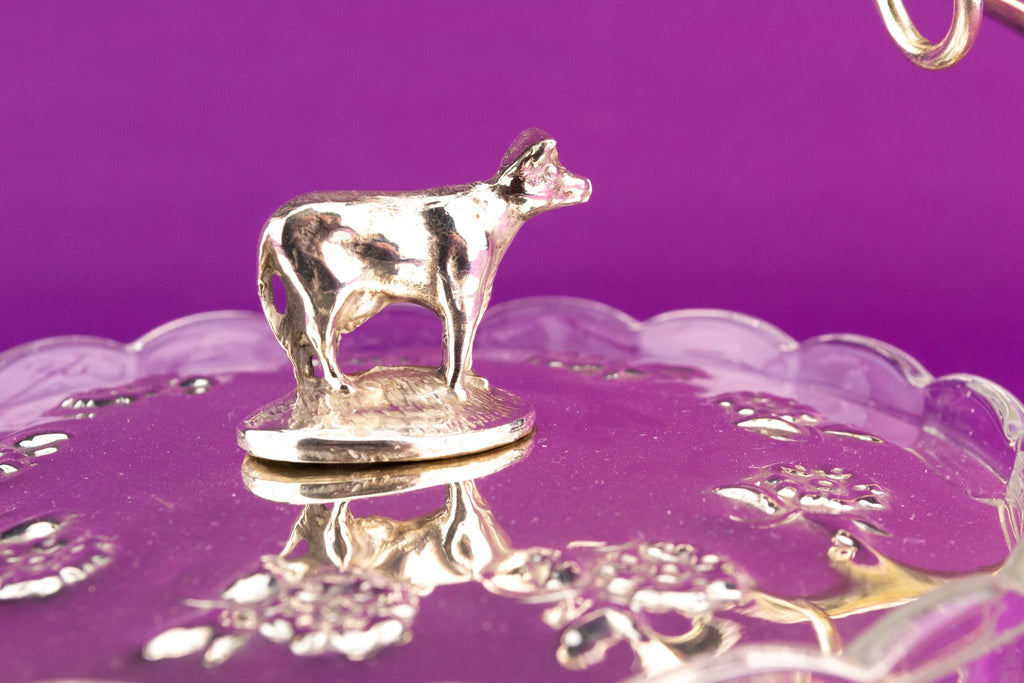 Butter Dish Cow Design, English Early 1900s
