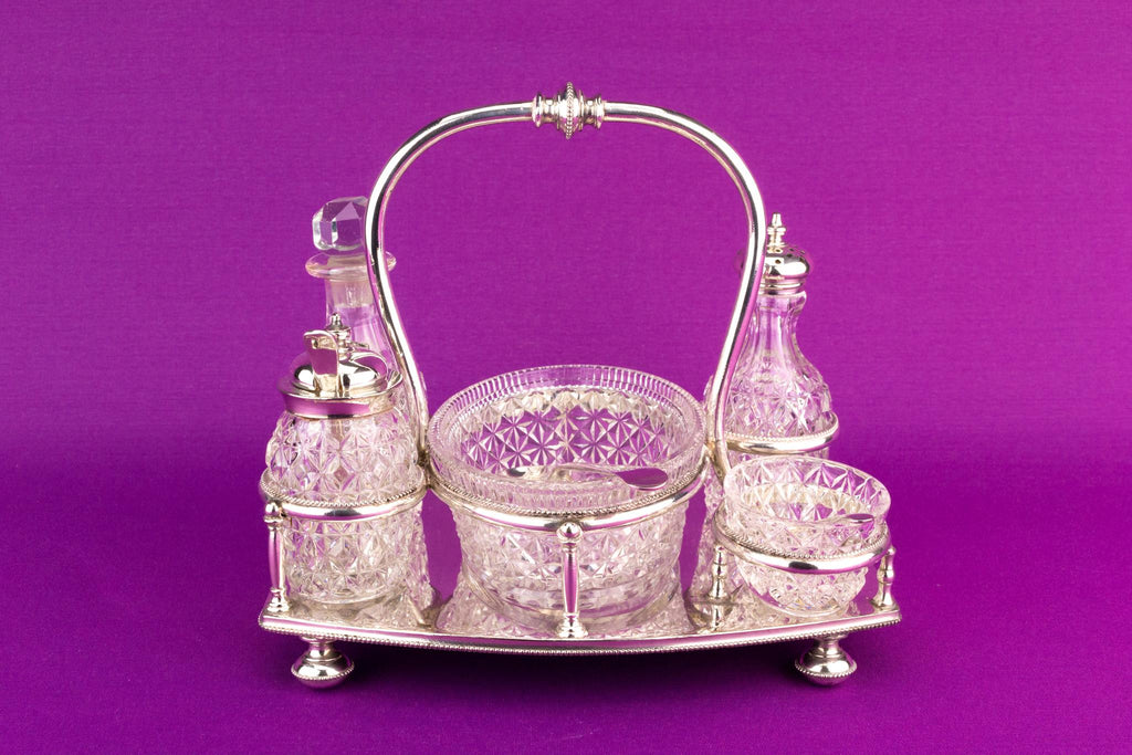 Silver Plated Condiment Set, English 1885