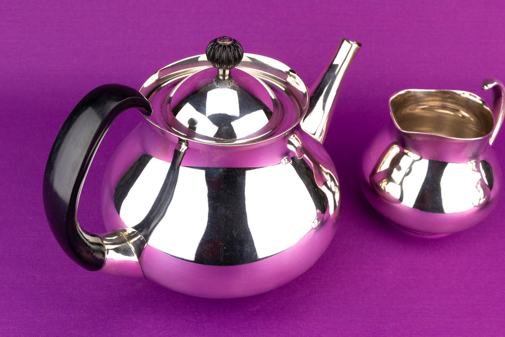 Silver Plated Tea Set by Mappin & Webb, English 1970s