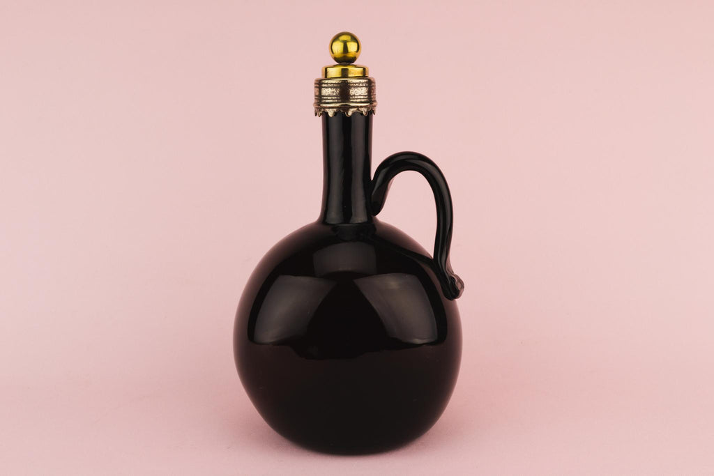 Brown Glass Bottle Decanter, English Circa 1800