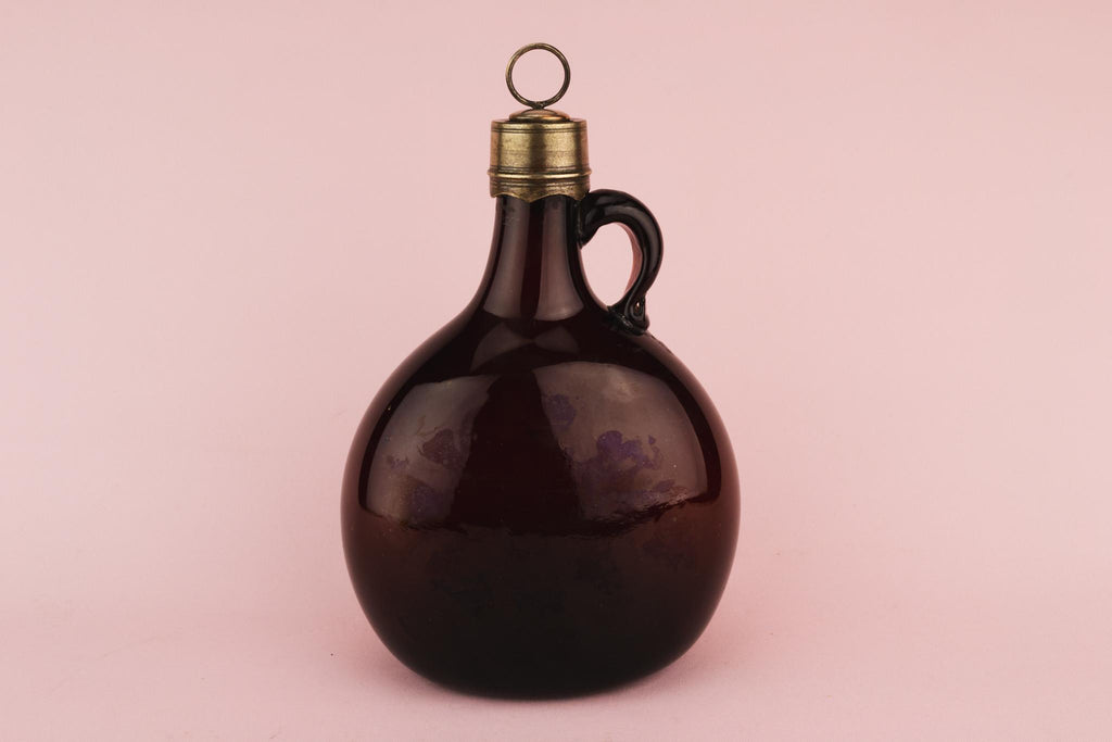 Brown Glass Whisky Decanter, English 18th Century
