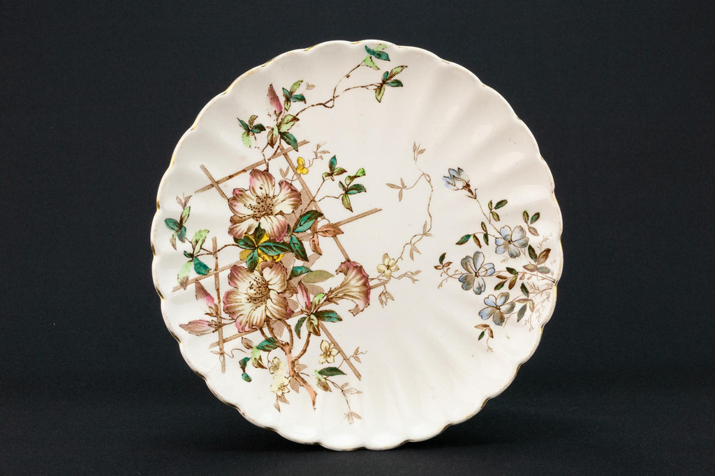 Floral Serving Dish, English 1890s