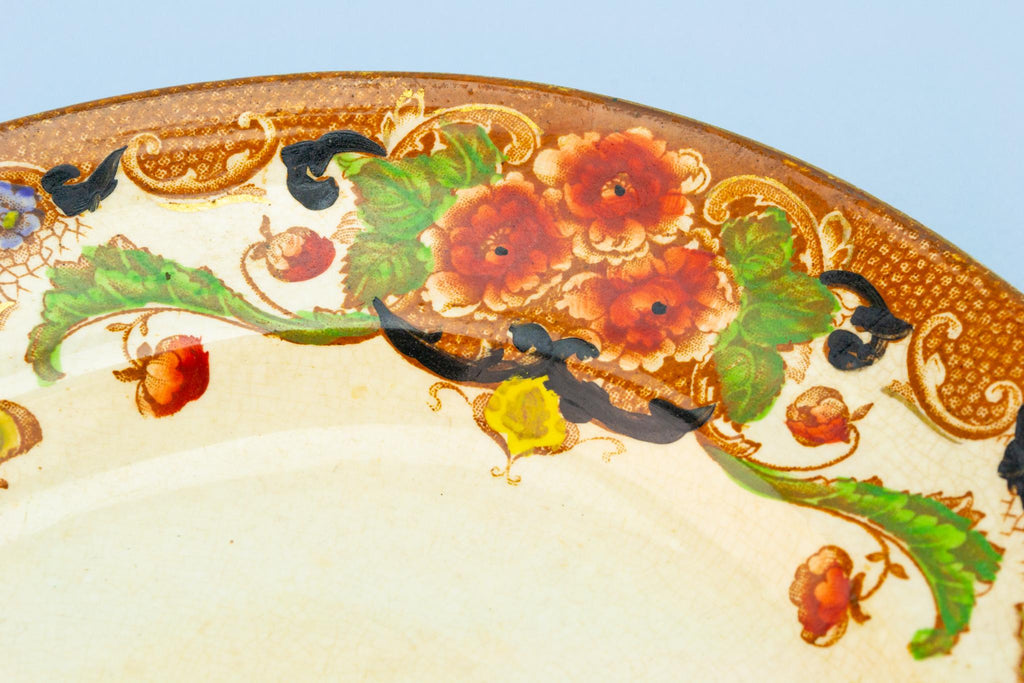Small Serving Platter in Rusty Orange, English Circa 1910