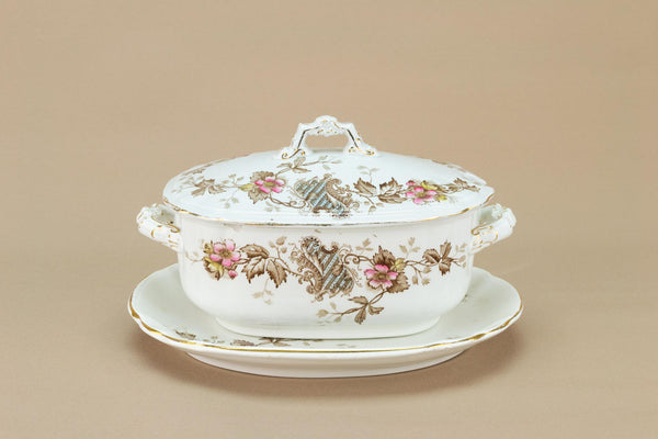 Small Serving Bowl and Lid, English 1890s