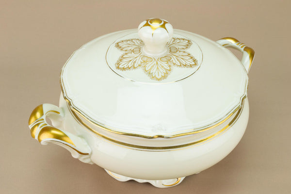 Large Gilded Tureen with Lid, German 1930s