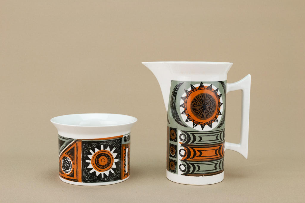 Milk and Sugar Set by Portmeirion, English 1960s