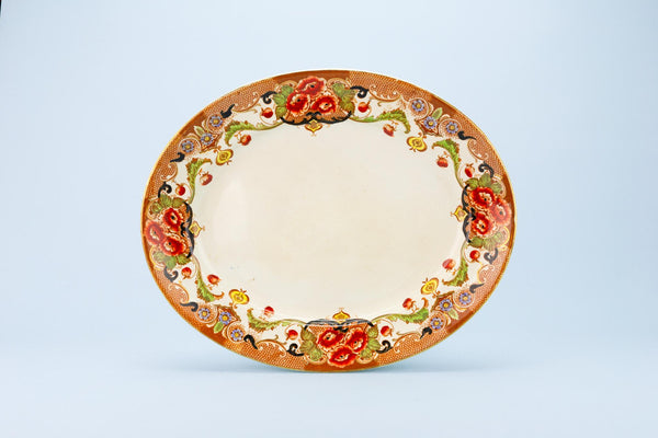 Serving Platter with Flowers, English Circa 1910