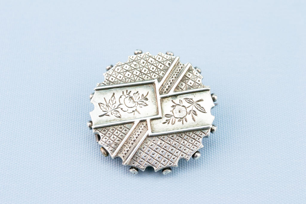 Silver Brooch Aesthetic Movement, English 1880s