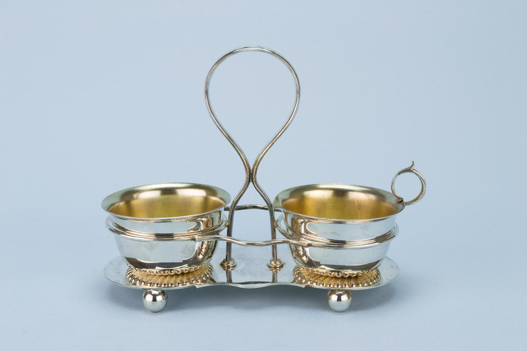 Walker & Hall Condiment Set, English 1930s