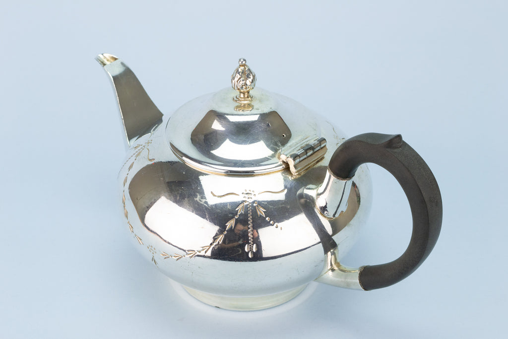 Tea & Coffee Set in Silver Plated Metal, English Circa 1910