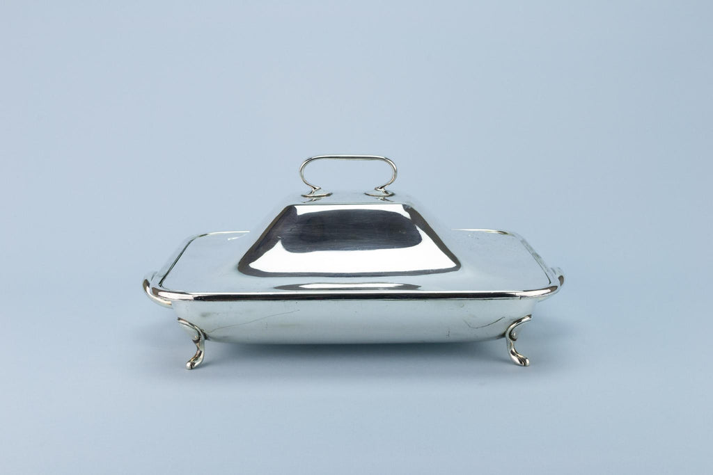 Hot Serving Dish with Lid, English 1930s