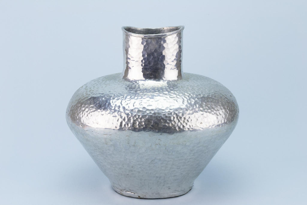 Large Hammered Flower Vase