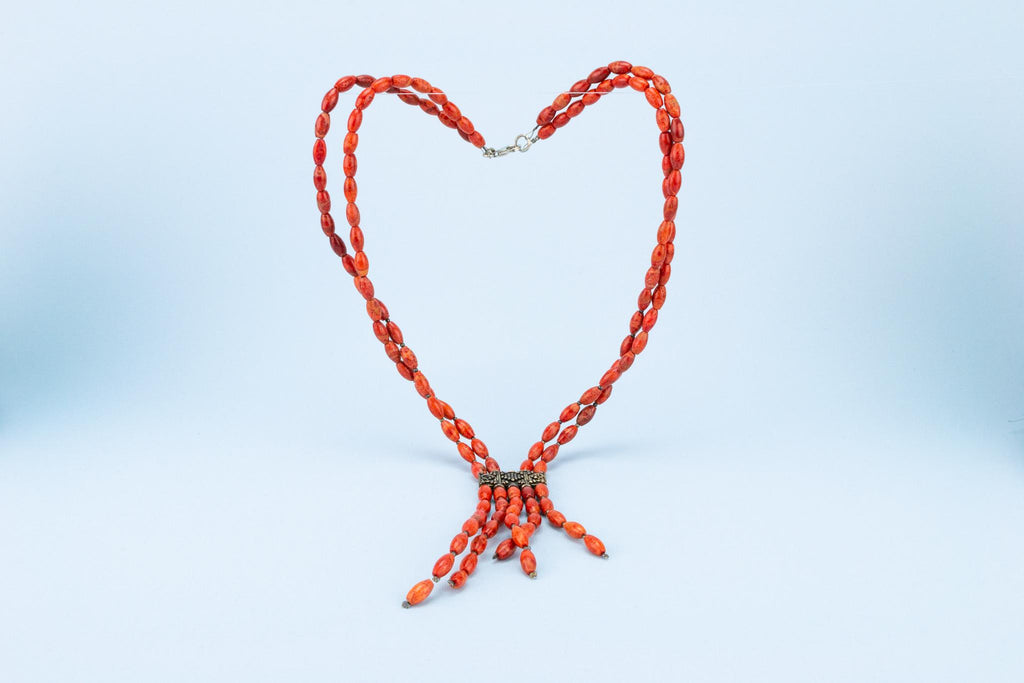 Italian Red Coral Necklace