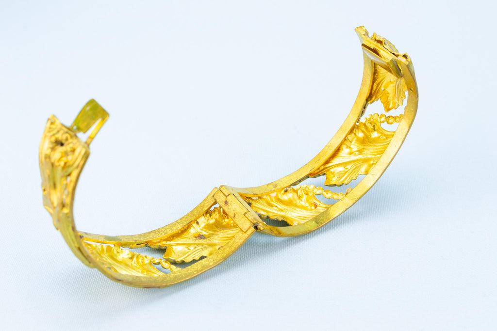Art Nouveau Gold Plated Bracelet, English 1890s