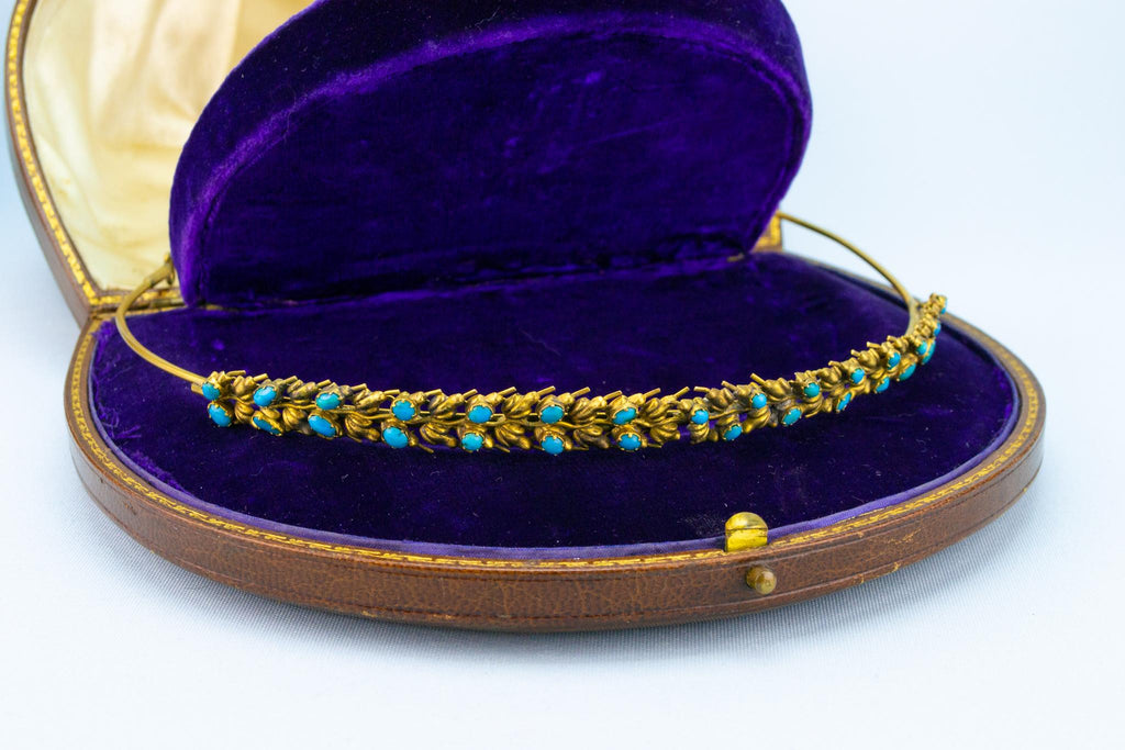 Gold and Turquoise Tiara, English Regency 1820s