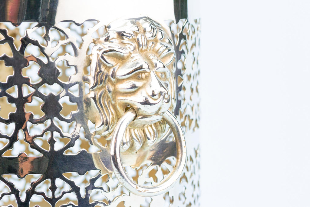 Wine Bottle Coaster with Lion Mask Handles